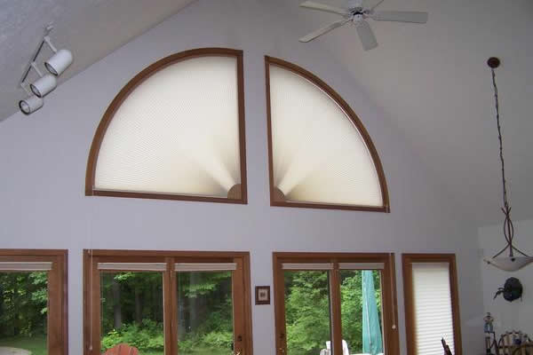 Cellular Honeycomb Movable Arch Shades Buyhomeblinds Com