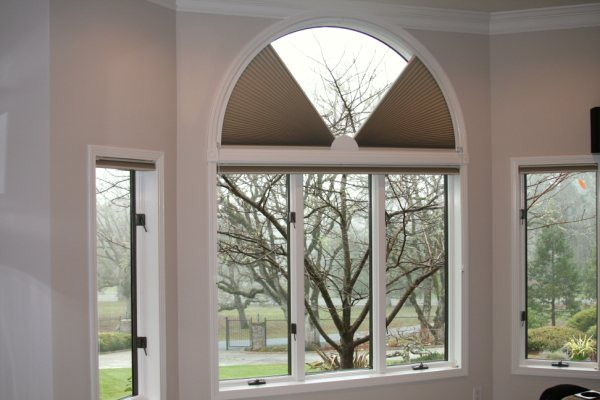 Movable Arch Honeycomb Shades Totally Opened To Closed You Choose The View