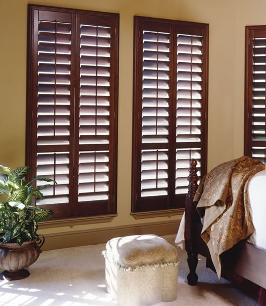 Premium Wood Shutters Stained