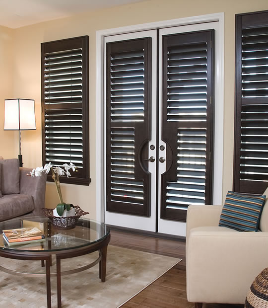 Premium Wood Shutters Stained Buyhomeblinds Com