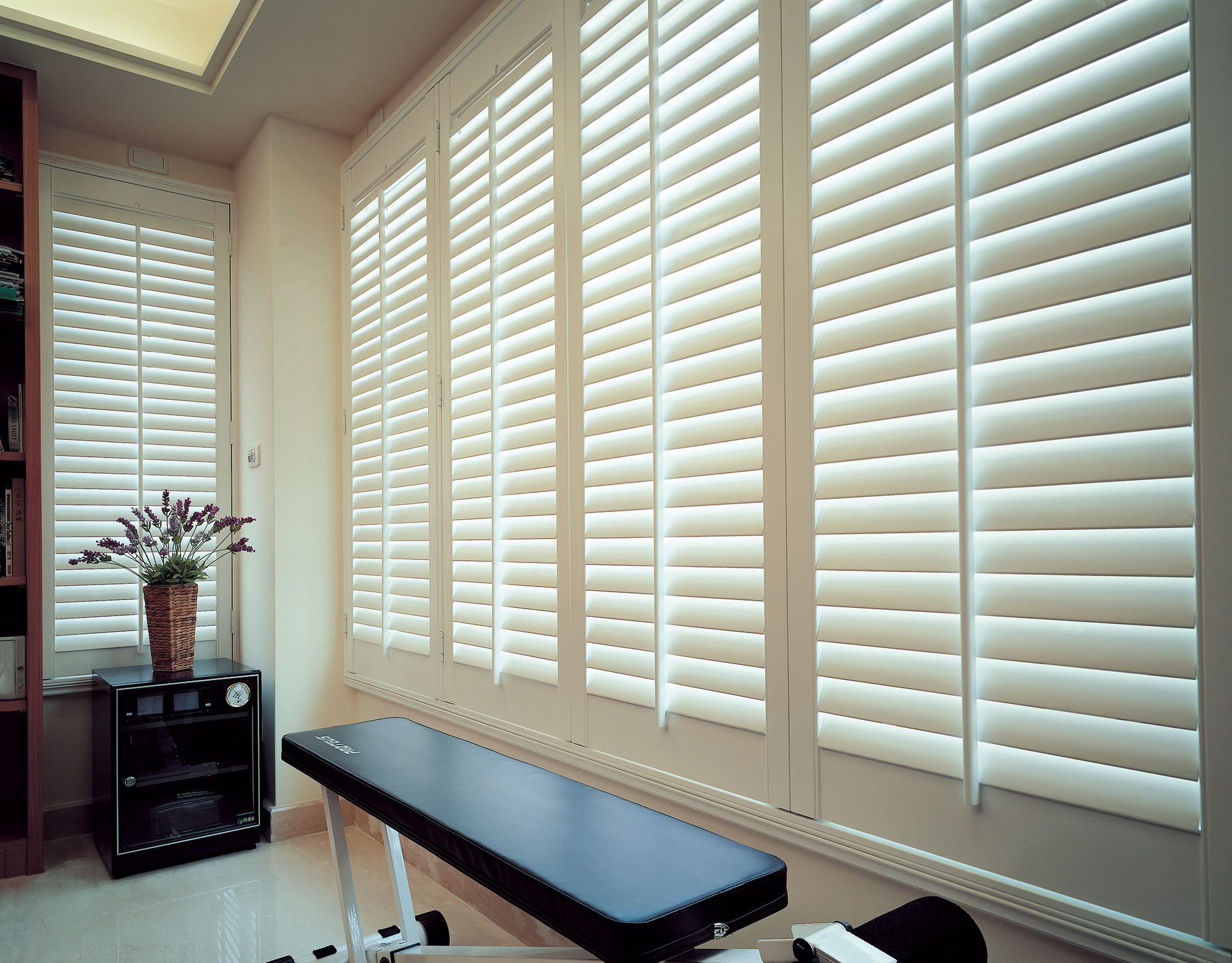 Faux wood shutters composite shutters for Timber shutters