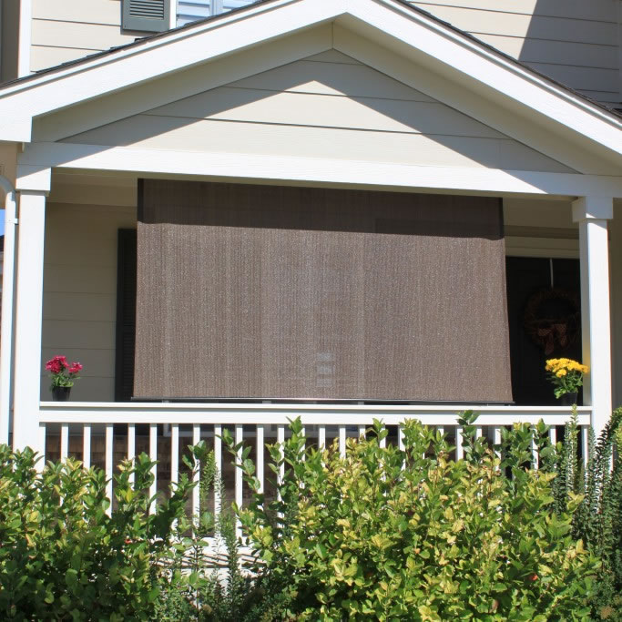 Exterior Solar Shades Silver Series Cord Operated No Valance